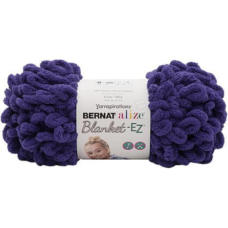 Bernat Alize Blanket-EZ Yarn - Bright Purple