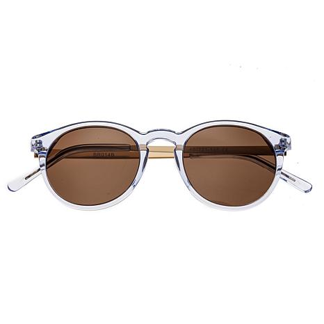 Bertha Hayley Polarized Sunglasses with Blue Frames and Brown Lenses