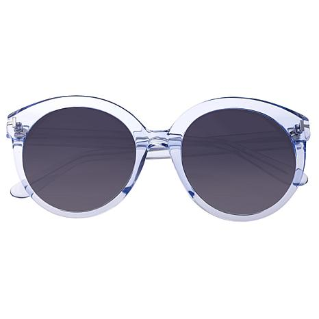 Bertha Violet Polarized Sunglasses with Blue Frame and Black Lenses