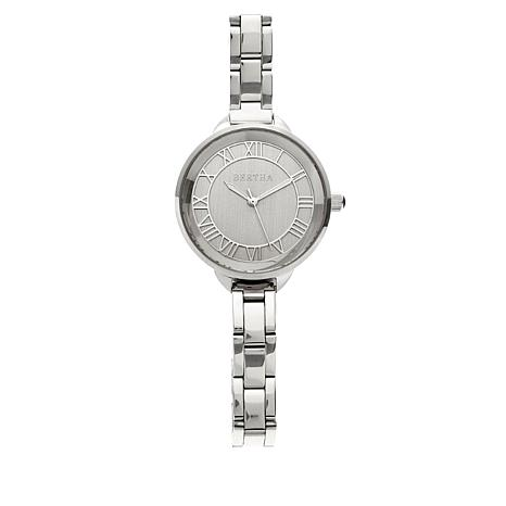 "Bertha Watches ""Madison"" Stainless Steel Bracelet Watch"