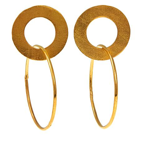 Betty Carré Goldtone Circle Drop Earrings