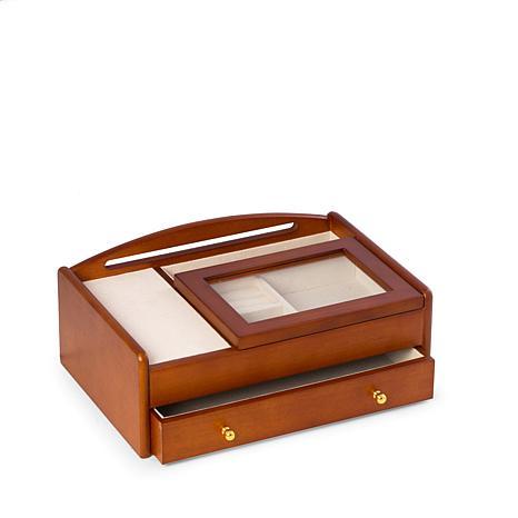 Bey-Berk Cherry Wood Valet Box