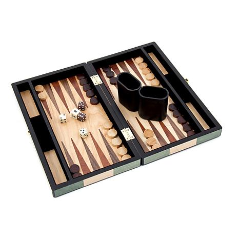 Bey-Berk Inlaid Wood Backgammon Set