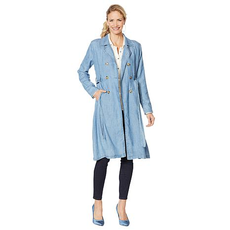 Billy T Linen Blend Trench Coat
