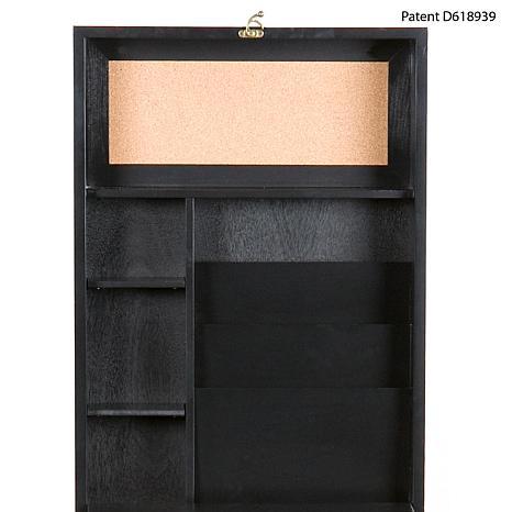 Black Fold Out Convertible Desk 6408572 Hsn