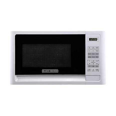 Black+Decker EM720CFO-PM 0.7 Cu. Ft. Digital Microwave -White