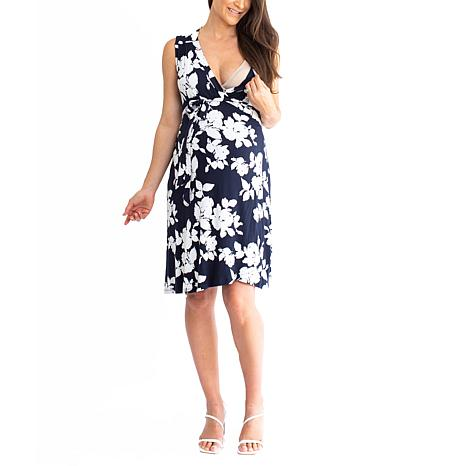 Blooming Women Maternity Wrap Dress