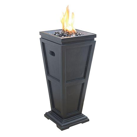 Blue Rhino Uniflame Column Glass Fire Pit-Medium