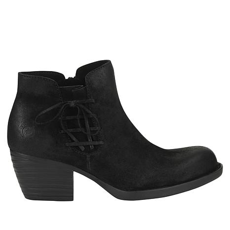 41f1ec313 Born® Farnes Burnished Suede Ankle Bootie - 8787403 | HSN