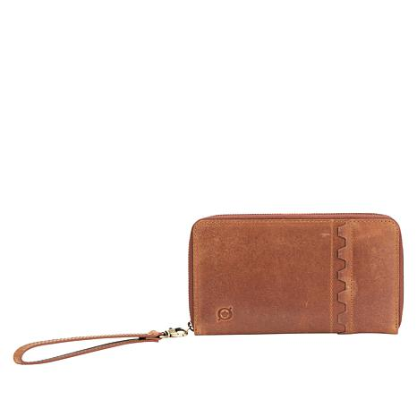Born Leather Realto Ziparound  Wallet Wristlet