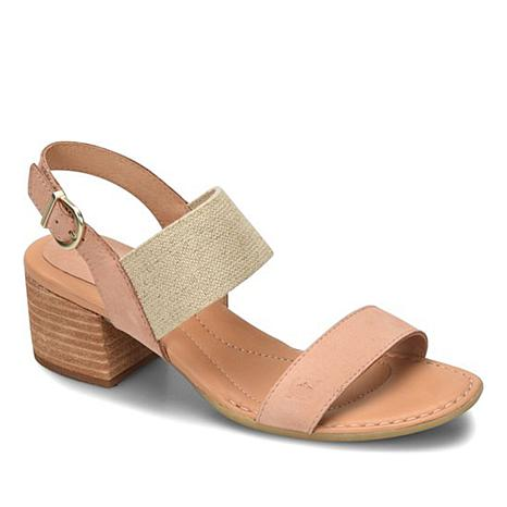 Born® Opal Leather Stretch Dress Sandal