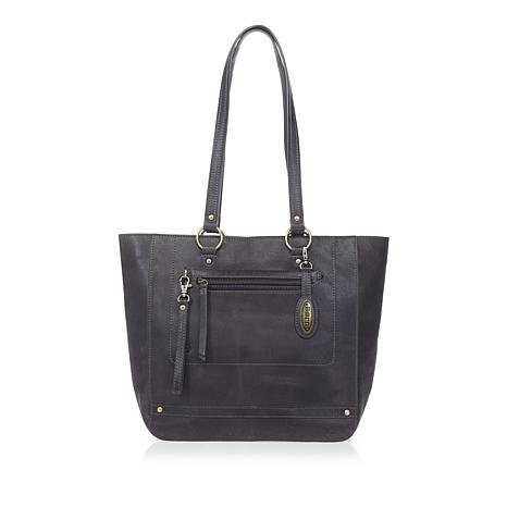 Born Wellesley Distressed Leather Tote with Wristlet