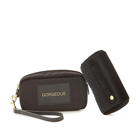 "Boulevard ""Ella"" Black Rectangular Jewelry Wristlet"