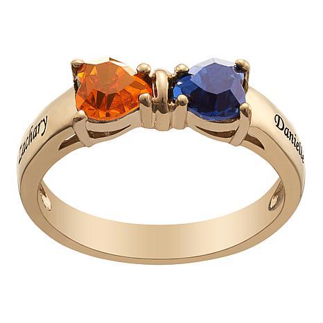 Bow Crystal Birthstone Ring