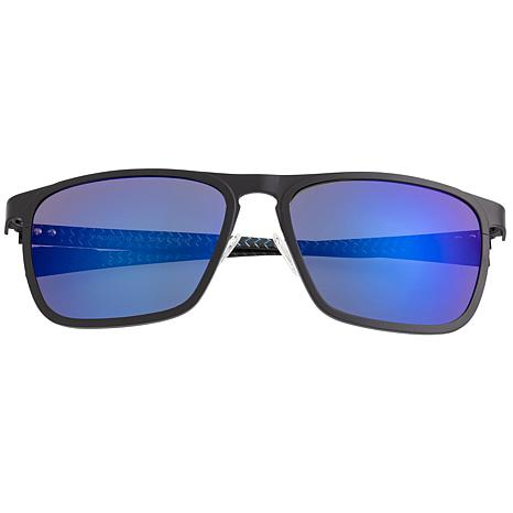 Breed Capricorn Polarized Sunglasses with Black Frame and Blue Lenses