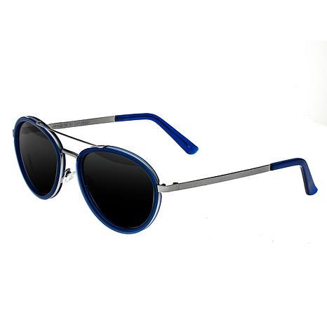 Breed Gemini Titanium Polarized Sunglasses Silver and Blue Frame Si...