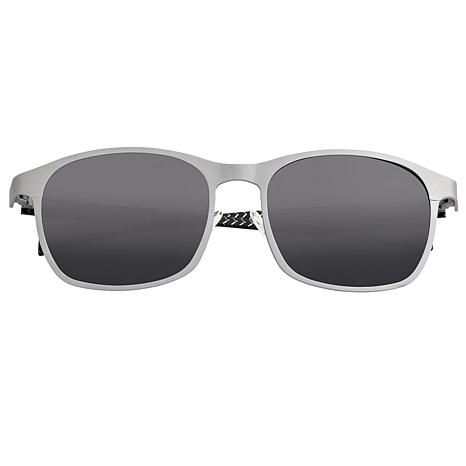 Breed Halley Polarized Sunglasses with Silver Frame and Black Lenses