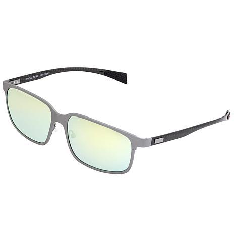 Breed Neptune Polarized Sunglasses - Silver Frames/Gold-Yellow Lenses