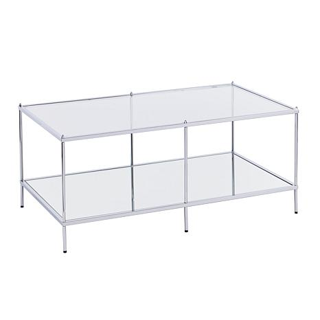 Bremond Glam Mirrored Cocktail Table - Chrome