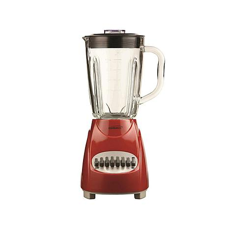 Brentwood JB-920R 12-Speed + Pulse Blender with Glass Jar, Red