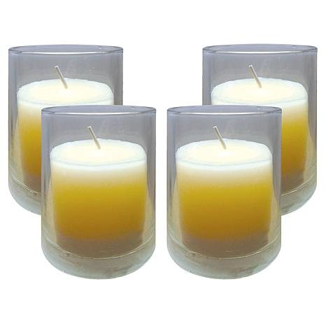 "Brite Star Set of 4 3"" Clear Glass Votives"