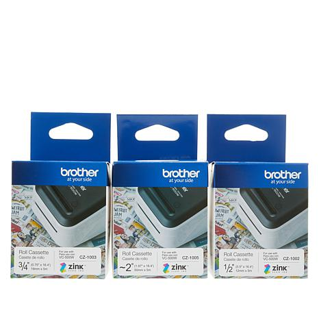 Brother Compact Color Label and Photo Printer Paper Bundle