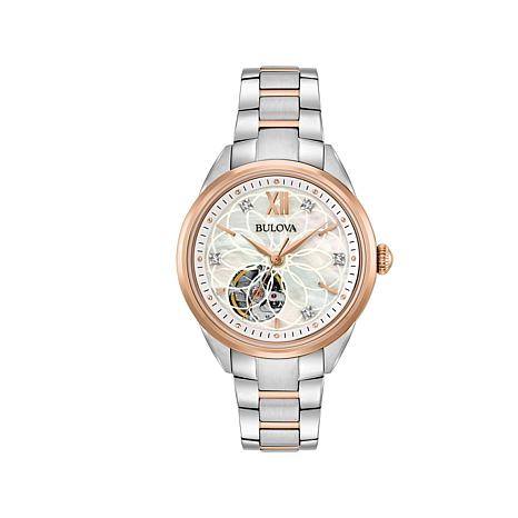 Bulova Diamond-Accented Automatic Bracelet Watch