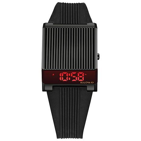 Bulova Men's Black Computron Digital Watch