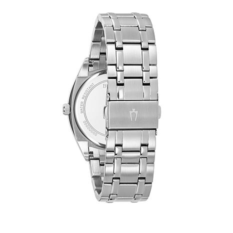 5b2b73727d7 Bulova Men s Classic Collection Stainless Steel Day and Date Feature Blue  Dial - 8522682