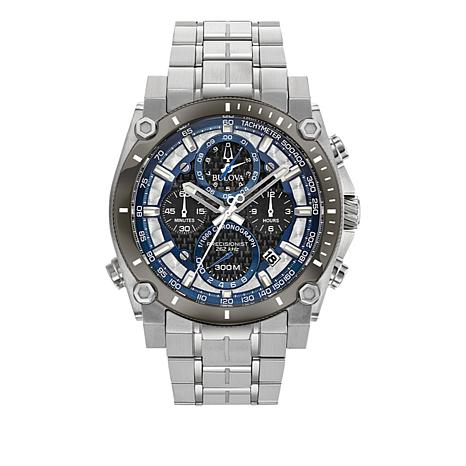 "Bulova ""Precisionist"" Men's Silvertone Bracelet Watch"