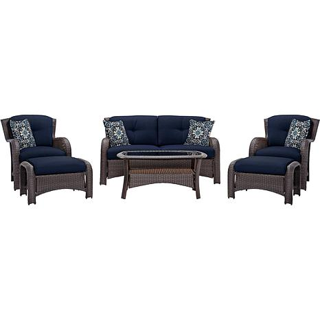 Cambridge Corolla 6-Piece Lounge Set - Navy