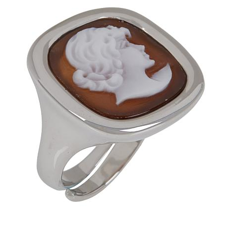 Cameo Italiano Classica Collection Hand-Carved Cameo Ring