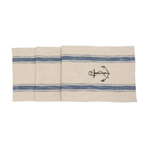 C&F Home Anchor Feed Sack Table Runner