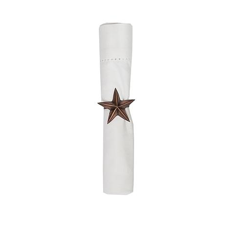 C&F Home Bronze Star Napkin Ring Set of 6