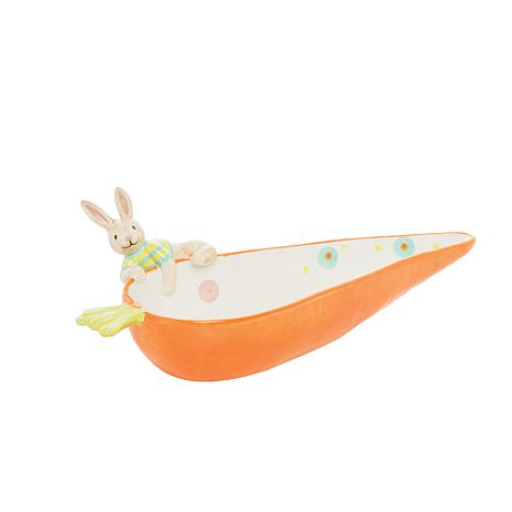 C&F Home Carrot Plate with Bunny