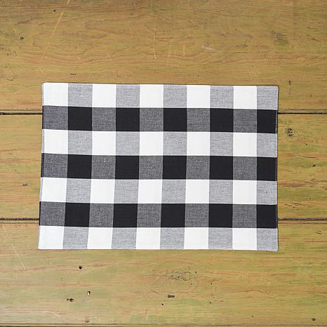 C/&F Home Franklin Black Cotton Placemat Set of 6