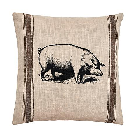 C&F Home Pig Feed Sack Pillow
