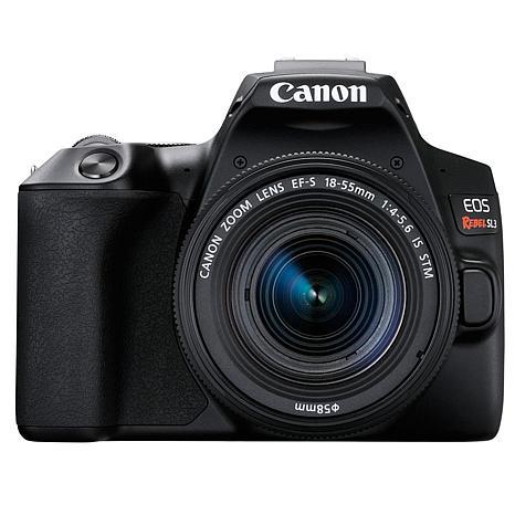 Canon EOS Rebel SL3 Black DSLR Camera with 18-55mm Lens