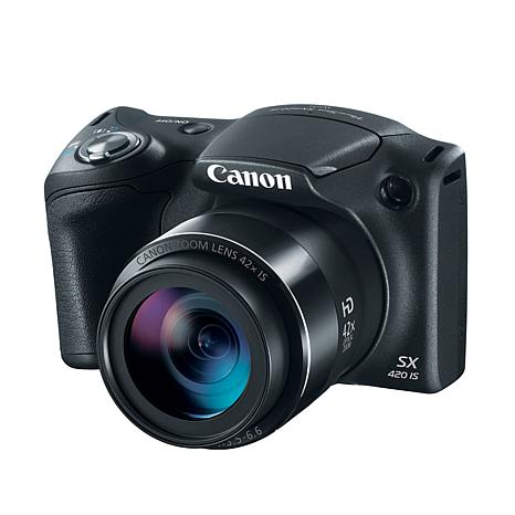 Canon PowerShot SX420 IS 20MP 42X Optical ZoomCamera w/SD Card & Bag