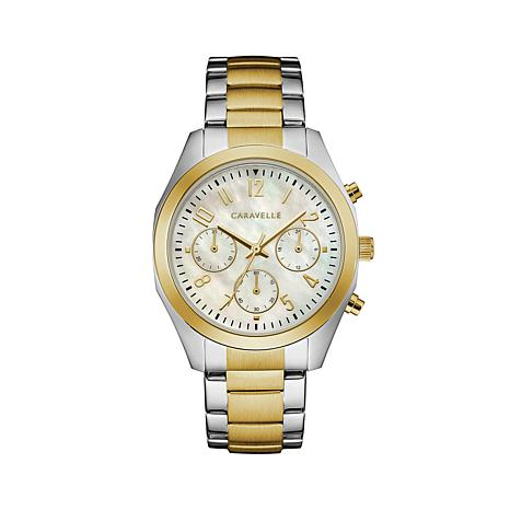 Caravelle 2-Tone Chronograph Watch