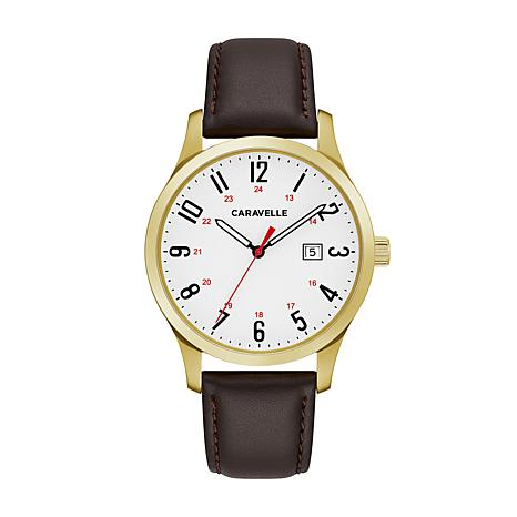 Caravelle Men's White Dial Watch