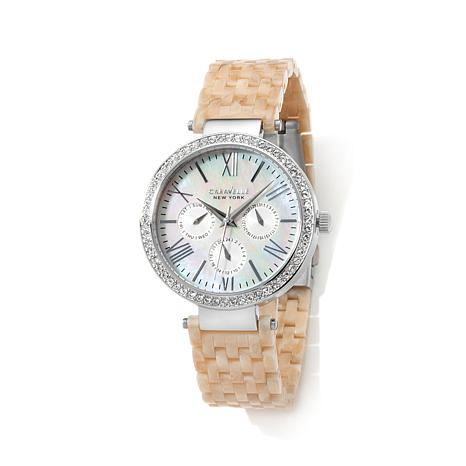 Caravelle New York Mother-of-Pearl Dial Chronograph