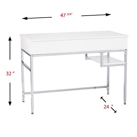 Southern Enterprises Carlo Adjule Height Sit Stand Desk White 8505152 Hsn