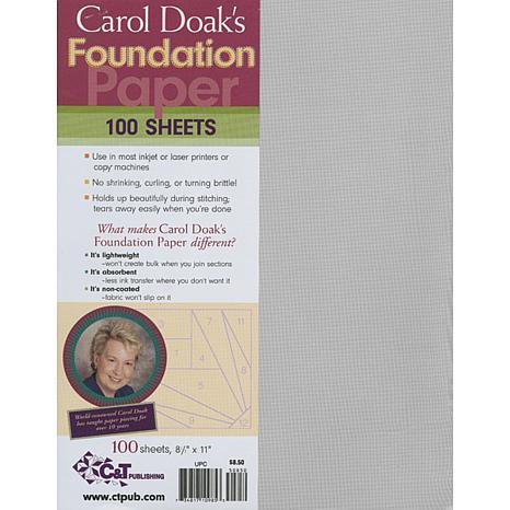"""Carol Doak's Foundation Paper - 8-1/2""""L x 11""""H 100-pack"""