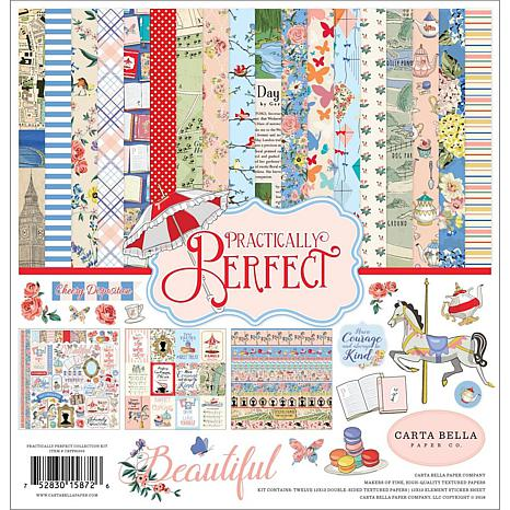 """Carta Bella Collection Kit 12"""" x 12"""" - Practically Perfect"""