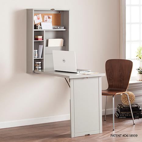 Cartwell Fold-Out Convertible Wall Mount Desk - Gray
