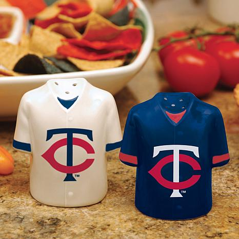Ceramic Salt and Pepper Shakers - Minnesota Twins