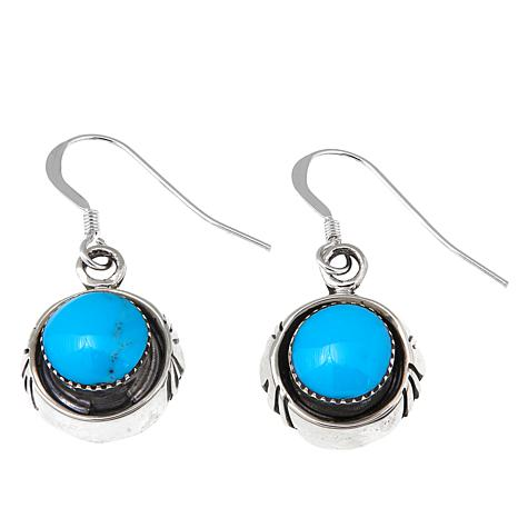 Chaco Canyon Blue Kingman Turquoise Drop Earrings