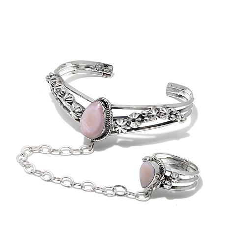 Chaco Canyon Gemstone Princess Cuff Bracelet and Ring