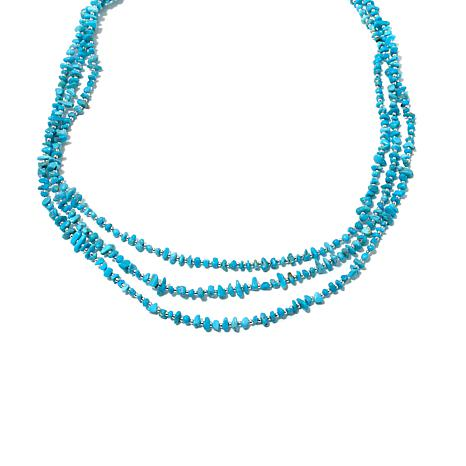 Chaco Canyon Sleeping Beauty Turquoise Beaded Necklace